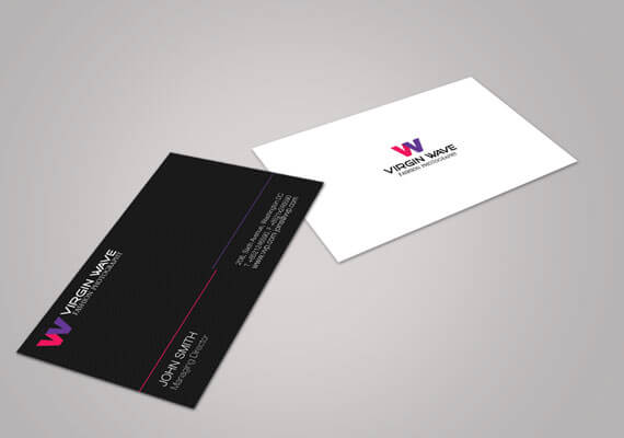 Logo and Business Card design for Virgin Wave