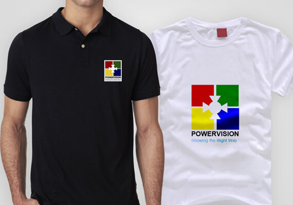 shirt Printing For Powervision tv